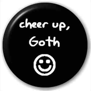 Goth Novelty 25mm 1 Inch D Pin Button Badge