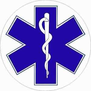 EMT Star of Life Stickers EMS Rescue Nurse Decal