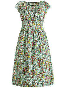 SEASALT-Green-Vintage-Floral-Drake-Carnauba-Dress-Organic-Cotton-RRP-55