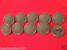 10 x NVA MdI Knöpfe Uniformknöpfe Schulterstücke FDA Tarnjacke (grau) 16mm (#2)