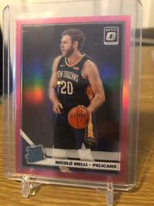 2019/20 Donruss Optic Nicolo Melli Pink Prizm /25 Rookie Card pelicans RC