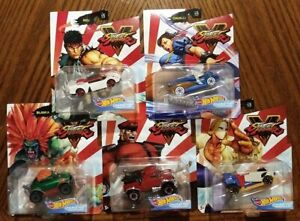Street-Fighter-Complete-Set-of-5-Hot-Wheels-Gaming-Character-Cars-2020