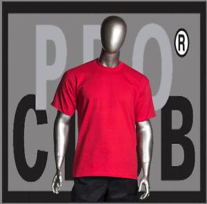 dd1f029356e159 Big and Tall T Shirts Plain Men PRO CLUB HEAVYWEIGHT ProClub Red Tee ...