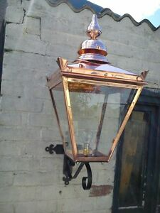 Image Is Loading Handmade In England Victorian Copper Street Lamp Lantern