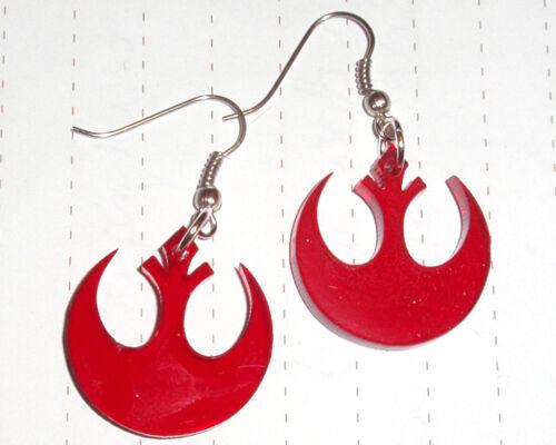 80s Super Star Wars Rebel Logo charm Pendientes Kitsch Kawaii Vestido de fantasía