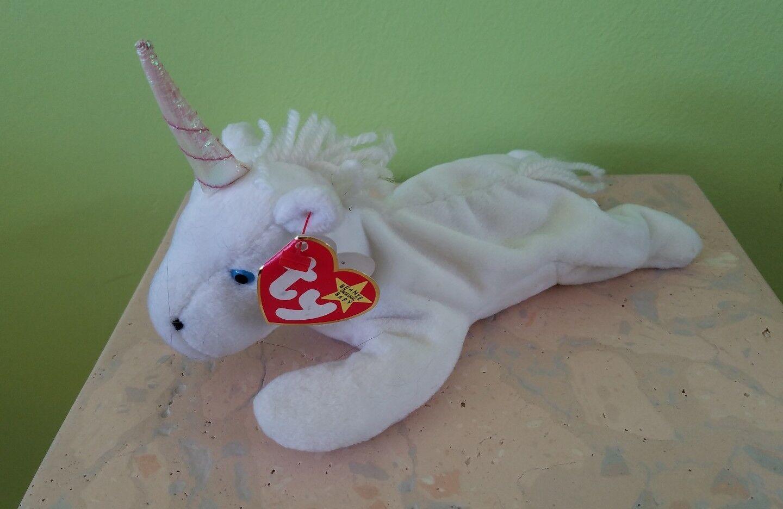 MYSTIC Fine Mane (Unicorn) MWMT 2nd 1st gen Ty Beanie Baby (AP 12129) PS