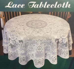 Beautiful Image Is Loading SIMACO NOTTINGHAM LACE OVAL TABLECLOTH 70 034 X