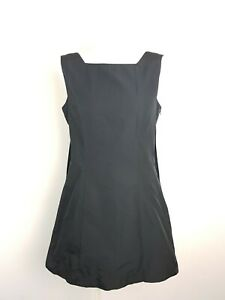 CUE Black & White Box Pleat Tent Cocktail Party Dress Women's Size 10 AU MADE