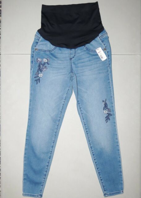 31edf357bc047 Maternity Jeans NEW size 14 Skinny Jeggings Ankle NWT A Glow LARGE Full  Coverage