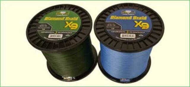 40lb 3000 yards Momoi Diamond Braid Generation III Fishing Line X9 Green
