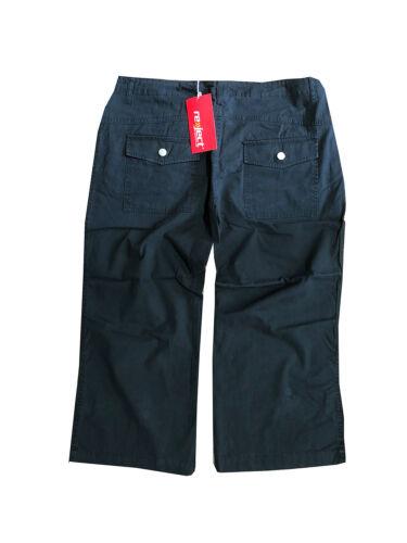 Reject Damen Stoffhose Shorts 7//8  Schwarz Gr 34 36 40 NEU