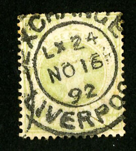 Great-Britain-Stamps-122-VF-Town-Cancel-Scott-Value-72-50