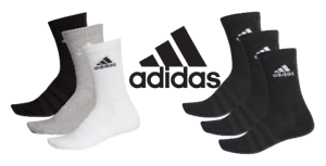 3-Pairs-Adidas-Sport-Socks-Mens-Ladies-Kids-Cushioned-Crew-Long-White-Black-Grey