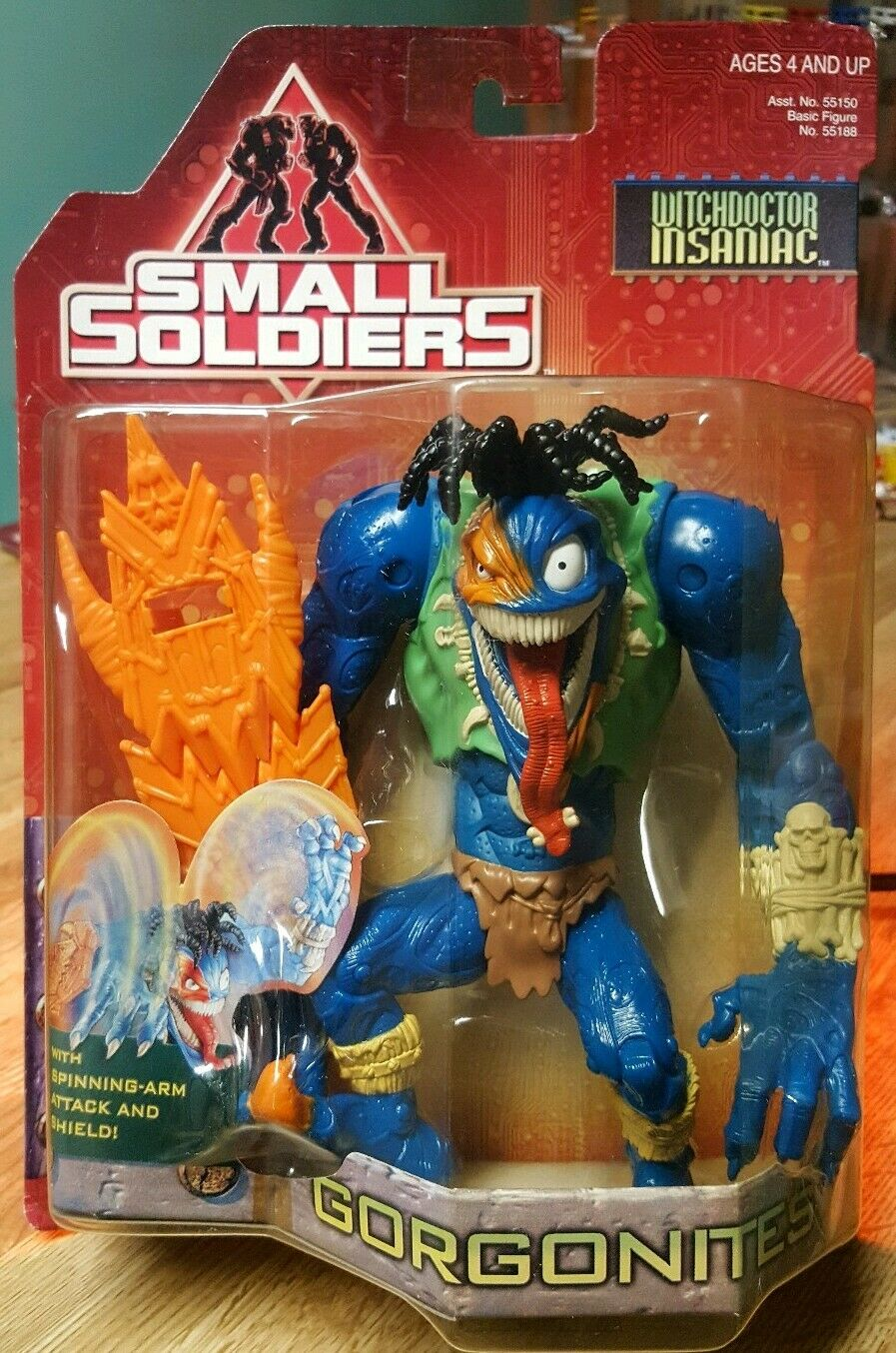 Small Soldiers Insaniac Witchdoctor Insaniac 7  Action Figure 1998 Kenner MIB
