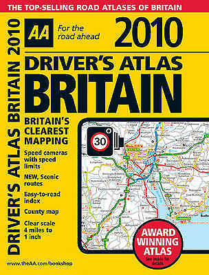 Very Good AA Publishing, AA Driver's Atlas Britain 2010 (AA Atlases and Maps), P