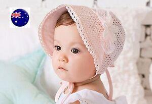 NEW-Baby-Girls-Kids-Children-Bonnet-Lace-Cotton-Beanie-Princess-Cap-Sun-hat-G204
