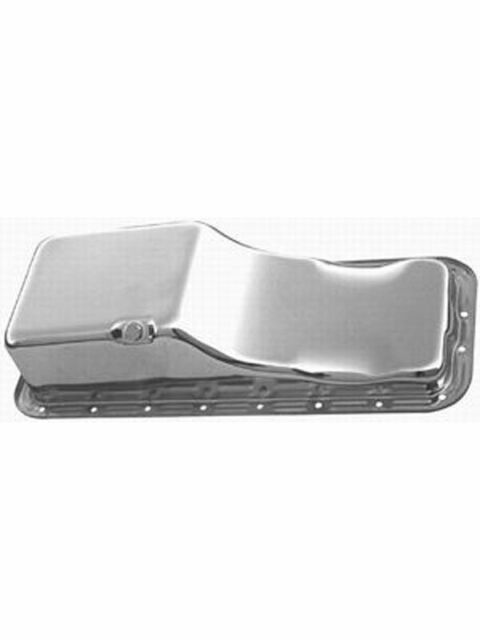 RPC Chrome Steel Stock Oil Pan, Fits 1958-76 Ford, 352-390-406-427-428 … (R9330)