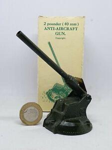 Britains 54mm fundido plomo británico 2 Pounder antiaéreos arma Set 1715