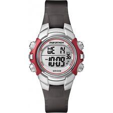 Ladies Timex Marathon Indiglo Digital Alarm Black Rubber Sports Watch T5K807