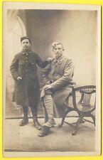 cpa Carte Photo BRIEL sur BARSE Souvenir de Permission 1916 SOLDATS 89 ème régt
