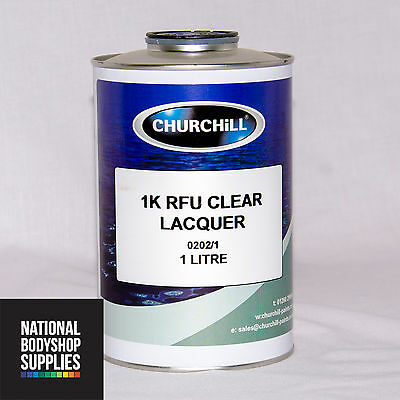1 LITRE 1K CLEAR COAT LACQUER / HIGH GLOSS / UV RESISTANT / READY FOR USE SMART