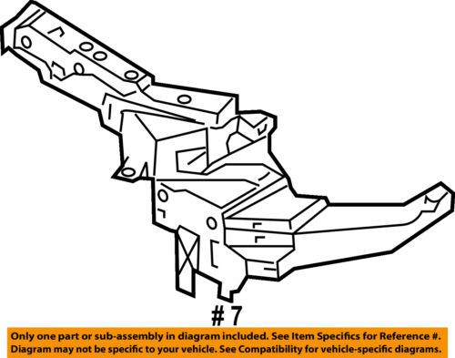 NISSAN OEM 03-07 Murano Radiator Core-Side Support Left 62521CA00A