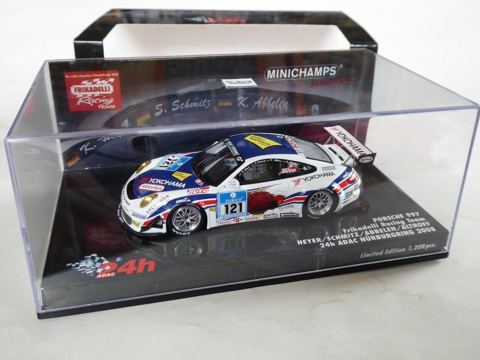 Minichamps 1 43 Porsche 911 997 GT3 Frikadelli Nürburgring Abbelen OVP 437086121