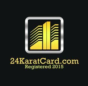 24KaratCard.com Premium 6 Year Old 24 Karat Card Brand Finance Domain Name