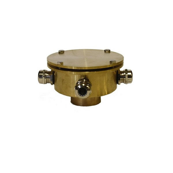 Bronze Four Outlet Underwater Junction Box for Fountain Lights Model UJ4