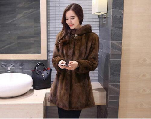 Winter Mid Hooded Jacket Parka Luxury Coat Fur Long Mink Womens Thicken 5xl XwIIqz7pR