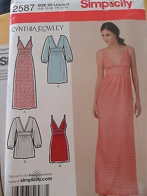 Simplicity 2587 - Cynthia Rowley- Dress in 3 Lengths or Tunic -Uncut