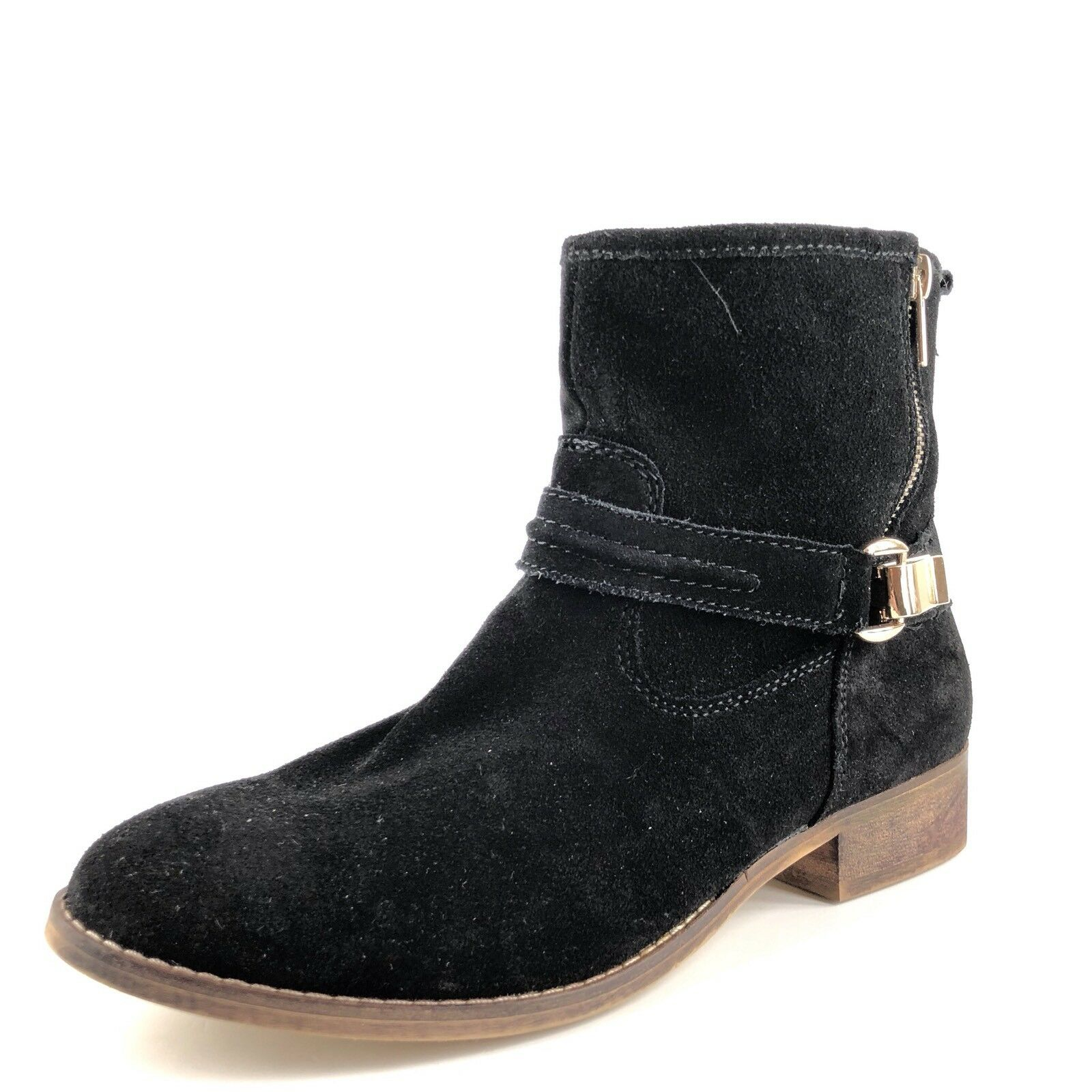 Steve Madden Truthh Black Suede Suede Suede Ankle Boots Womens Size 8.5 M  8debdd