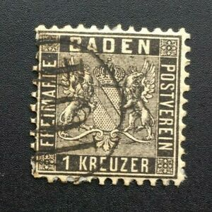 Timbre-BADE-Yvert-et-Tellier-n-9-Obl-Cyn37-Stamp