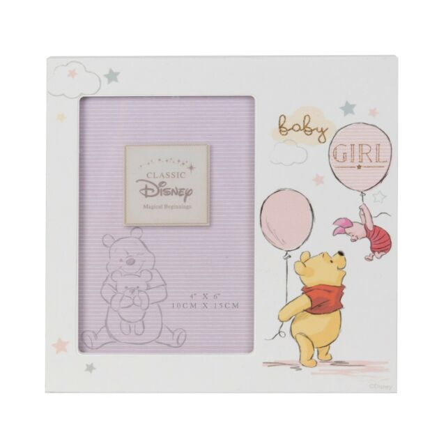 Personalised Disney Baby Girl Photo Frame Featuring Winnie The Pooh ...