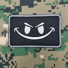 PVC Rubber Evil Smile Smiley Face ISAF US ARMY Tactical Morale Patch Green