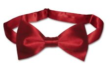 9ee47d9667de BIAGIO 100% SILK BOWTIE Solid Dark RED Color Men's Bow Tie for Tuxedo or  Suit