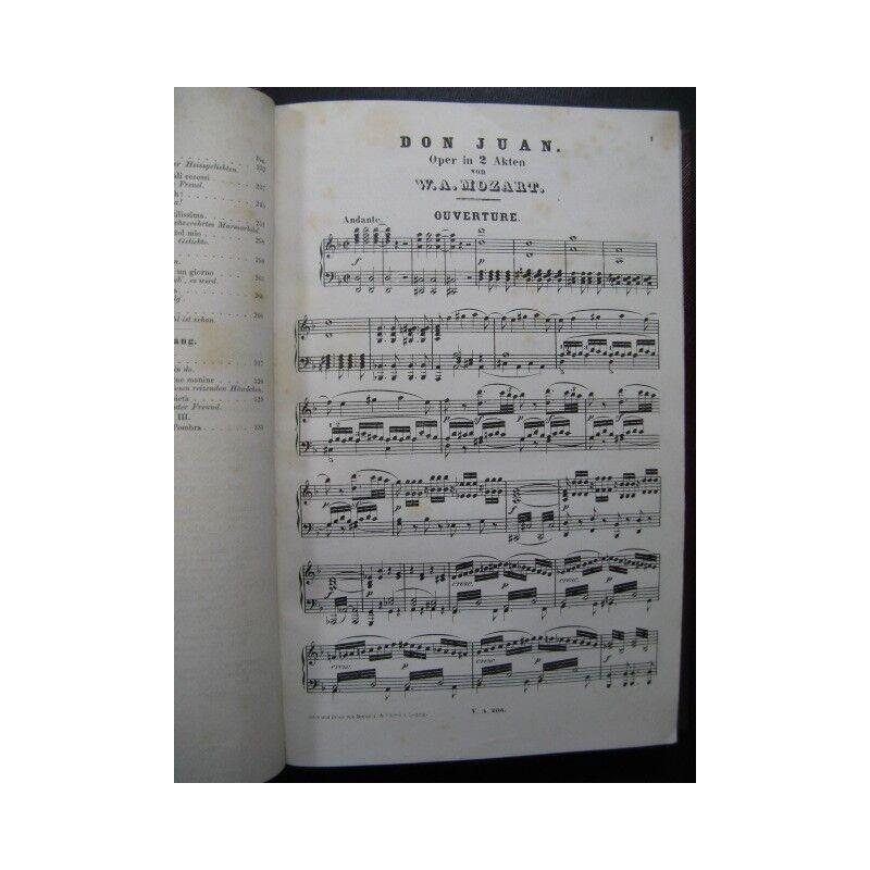 MOZART W. A. XIXe Don Juan Opera italien allemand XIXe A. partition sheet music score f717fd