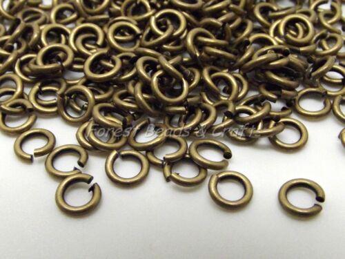 0.8mm ~ Jewellery Findings 300 x Bronze Jump Rings Jumprings ~ 4mm