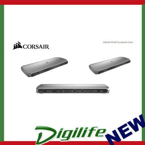 CORSAIR TBT100 Thunderbolt 3 Docking Station, 2x USB-C 3.2, 2x HDMI 4K 60Hz, USB