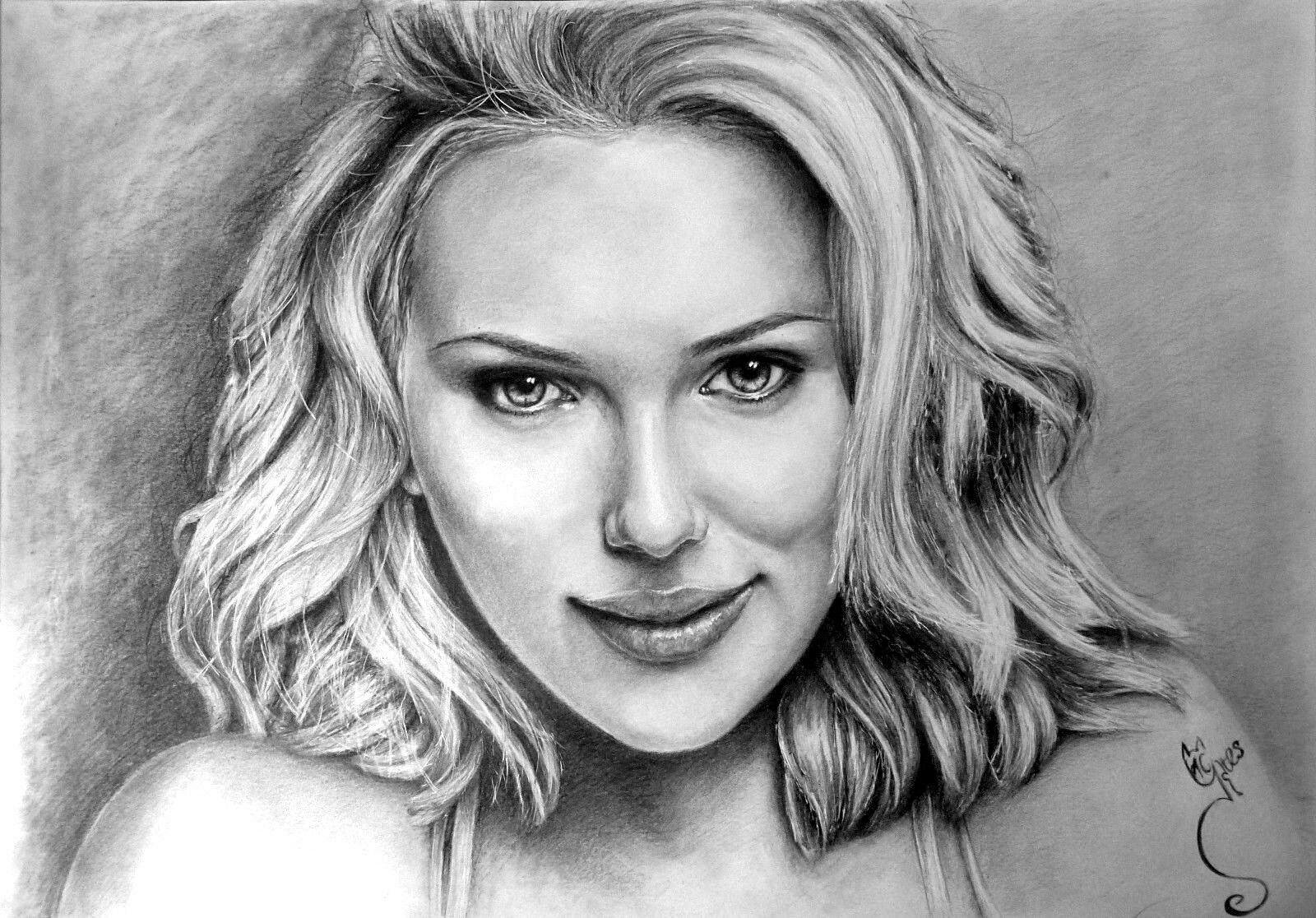 Commission an a3 pencil portrait from your photos