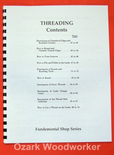 Instructions for THREADING ON A LATHE 0373
