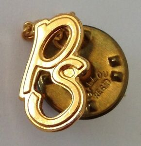 PS-Small-Golden-Style-Pin-Badge-Quality-Vintage-N1