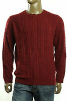 $85 Argyle Culture Crew Neck Cable Knit Wool Blend Apple Pullover Sweater L