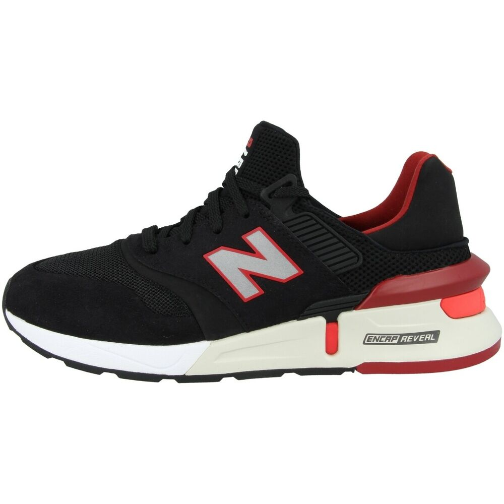 New Balance Ms 997 Rd Chaussures De Loisirs Sneaker Basket Black Energy Red Ms997rd