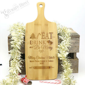 Engraved-Christmas-Wooden-Chopping-Board-Personalised-Gift-Xmas-Cutting-Cooking