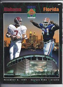 1994 SEC Football Championship program Alabama Florida