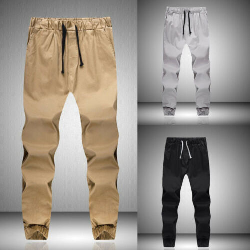 US Mens Jogger Sports Sweat Pants Tracksuit Bottoms Casual Jogging Long Trousers