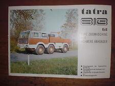 Prospekt Sales Brochure Tatra 813 6x6 Zugmaschine Truck Motokov  автомобиль LKW