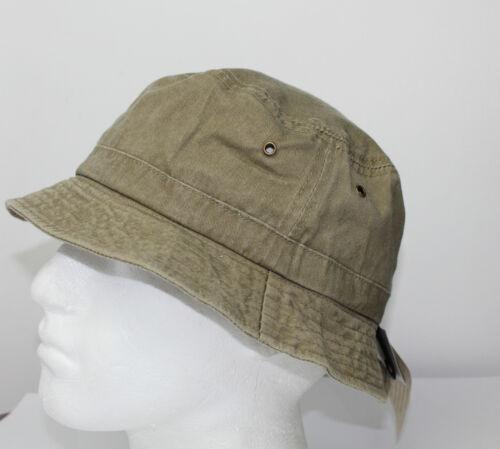 Ladies 100/% Cotton Bush Sun hat Pr Washed Green Navy Khaki Beige S M L Mens