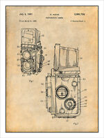 1960 Rolleiflex Photographic Camera Patent Print Art Drawing Poster 18x24
